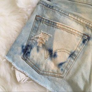Levi's Shorts - Levi's Acid Washed Distressed High Waisted Shorts